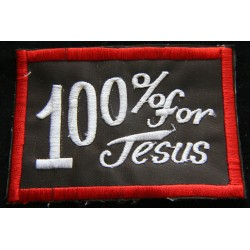 Cloth Patch - 100% for Jesus